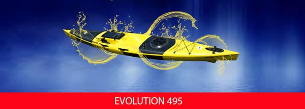 Stealth, Evolution, 495, Kayak, Fishing, Ski