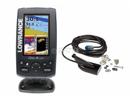 Lowrance, Elite 4 HDI, Sonar, Fish Finder,