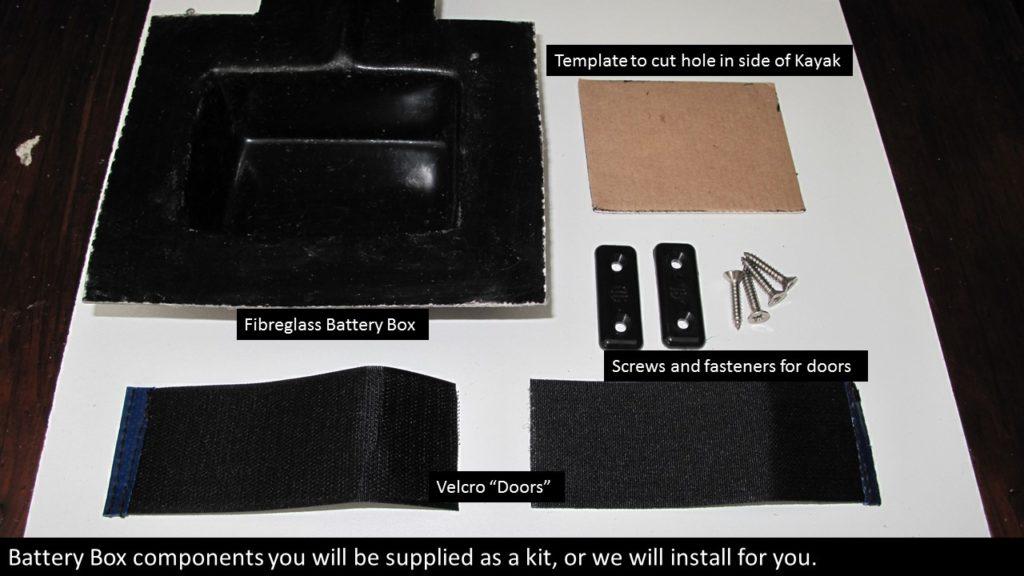 Battery, Box, components, fish finder, fishfinder, installation,