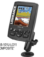 Lowrance RAM Mounting for Elite 4 Elite 4 HDI Elite 4 Chirp.