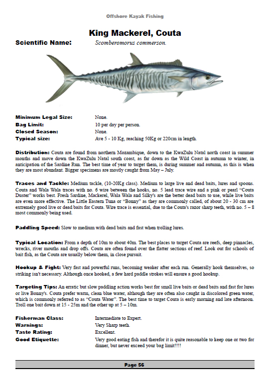 page from Offshore Kayak Fishing Book by Scott Hunter